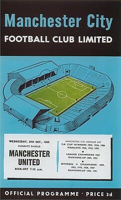 MANCHESTER CITY v MANCHESTER UNITED CHARITY SHIELD 1956