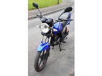 125cc Sinnis Max 2 motorbike