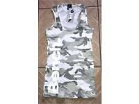 New Women's Bench camo racer vest top t-shirt Large 100% authentic guaranteed!