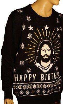 Happy Birthday Religious (Mens JESUS Happy Birthday Religious Savior Christmas Sweater Party XXL 2X)