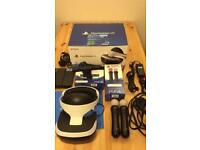 Psvr headset plus move controllers and camera vr .works with PS4 PlayStation