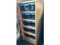 Snake / gecko rack fully set and ready to use