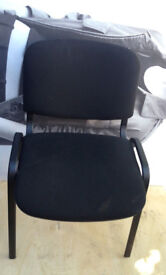 office professional chair black conference meeting stacking