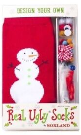 Christmas Design Your Own Soxland ''Real Ugly Socks''