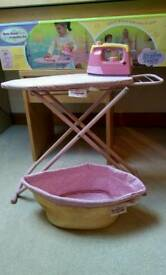 Dream Town Rose Petal Cottage laundry/Ironing Board Set