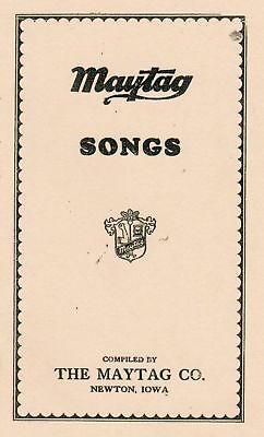 Maytag Song Book Dealer Engine Washer Hit Miss