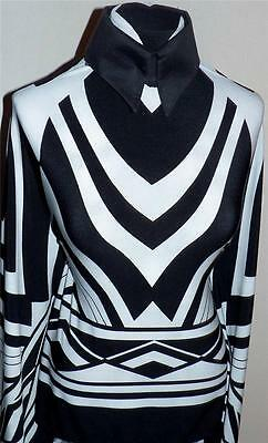 Black And White Borders (Black and White Art Deco Border Print Lycra Stretch Fabric By the)