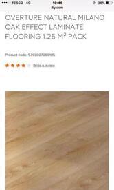 Natural Milano Oak Effect Laminate Flooring