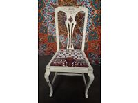 Vintage shabby chic bedroom chair