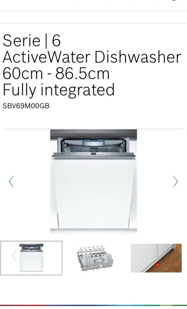 Bosch dishwasher (only 2 years old)
