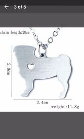 Dog breed shaped necklaces