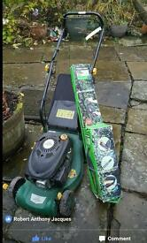 Petrol Lawnmower and bush strimmer
