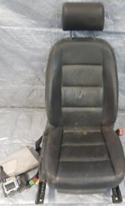 SEAT FRONT Right/Passenger-electric&heated+HEADREST+safety seat belt-BLACK LEATHER-complete for AUDI A4/S4 QUATTRO $150