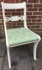 Fabulous Regency Bedroom Chair and painted in any colour & reupholstered in any fabric
