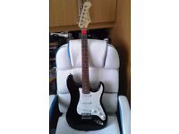 Electric Guitar and Practice Amplifier