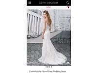 Beautiful lace wedding dress size 10-12