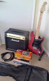 Complete Stratocaster & Marshall electric guitar package