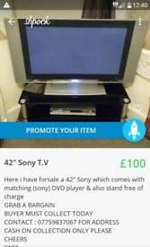 "42"" Sony t.v"
