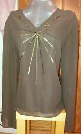 Ladies brown size 22 blouse
