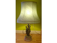 LARGE THREE GRACES BRONZED LAMP
