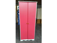 Solid Pine Painted Wardrobe