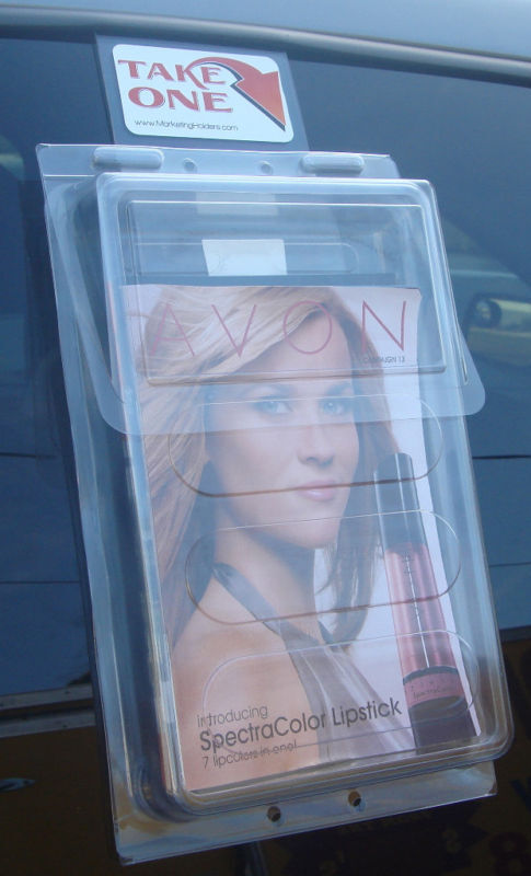 Bi Fold Outdoor Vehicle Brochure Holder Literature Box