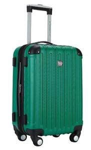 NEW Travelers Club Luggage Madison 20 inch Expandable Hardside Carry, Green