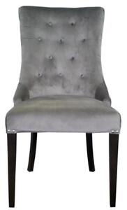 GREY, BLUE or SEA GREEN Accent Tufted Fabric Chair w/Brushed Silver Nail Head by ARTeFAC