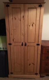 Wooden wardrobe, like new