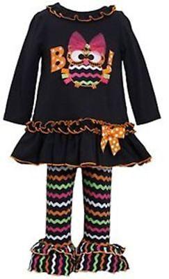 NWT Girls 8 BONNIE JEAN OWL BOO Dress & Chevron Leggings Halloween - Bonnie Jean Halloween 8