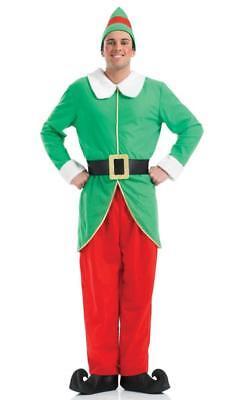 Mens Christmas Elf Santa's Little Helper Jester Christmas Fancy Dress Size - Little Christmas Elf Kostüm