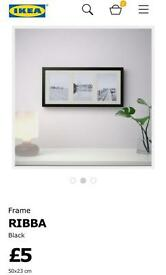 4x Ikea Ribba Picture Frames