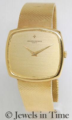 Vacheron Constantin Vintage 18k Yellow Gold Mens Bracelet Watch