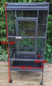 SOLD. Subject to collection 31/7. Large parrot cage