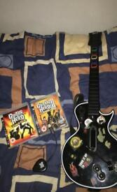 Guitar hero With 2 games (PS3)