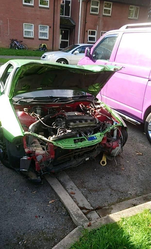 Honda del sol crx for sale. Damage from front end damage