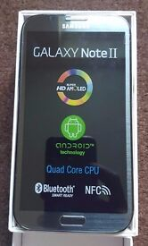 Samsung Galaxy Note 2 Grey in a Box with all the Accessories - SIM FREE UNLOCKED