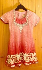 Peach Indian/Pakistani suit for girls size 28