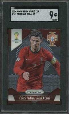 2014 Panini Prizm World Cup #161 Cristiano Ronaldo Mint SGC 9