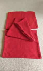 Three Red Cushion Covers