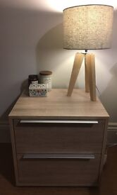 Two Bedside tables and chest of drawers