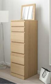 Ikea Malm chest of drawers with mirror