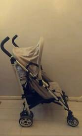 Excellent Condition Lightweight John Lewis Pram Pushchair Stroller Buggy Unisex with Rain Cover