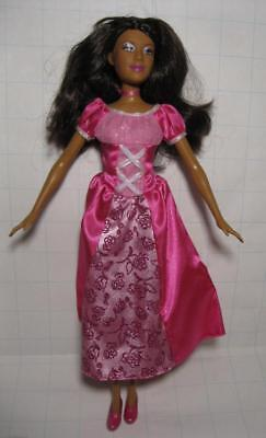 BARBIE doll ISLAND PRINCESS ROSELLA-Pink Dress/shoes  AA ETHNIC BLACK-RARE