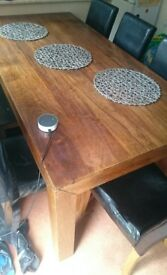 Large wooden table+ chairs free