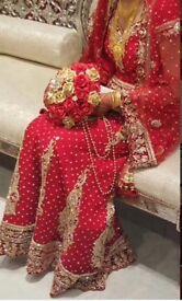 Red Asian Bridal Wedding Lengha