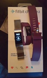 Fitbit Charge 2 with box and extras