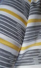 3.85 Metres BRAND NEW FABRIC Saffron Grey Yellow Stripe Curtain Upholstery Fabric John Lewis