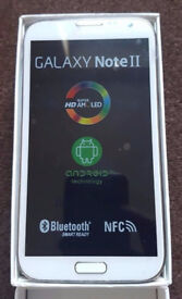 Samsung Galaxy Note 2 Black in a Box with all the Accessories - SIM FREE UNLOCKED To All Networks