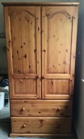 Pine Effect Wardrobe and Bedside Table
